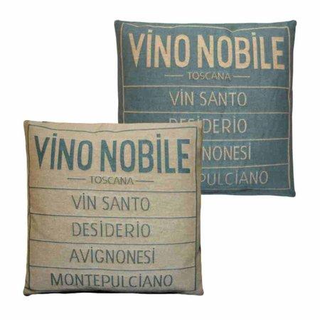 - Vino Nobile - Kussen - Aqua - Set van 2