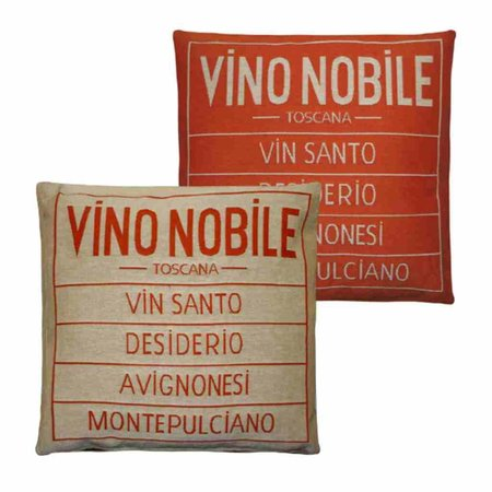 - Vino Nobile - Kussen - Orange - Set van 2