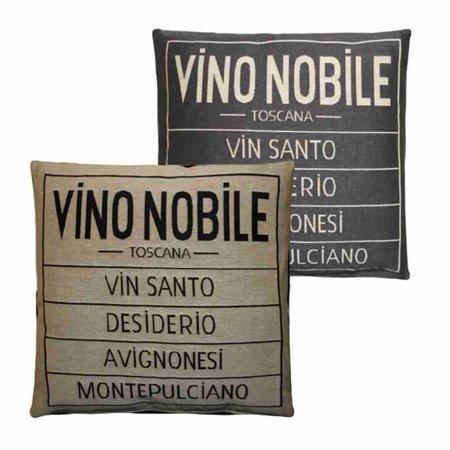 - Vino Nobile - Kussen - Grey - Set van 2