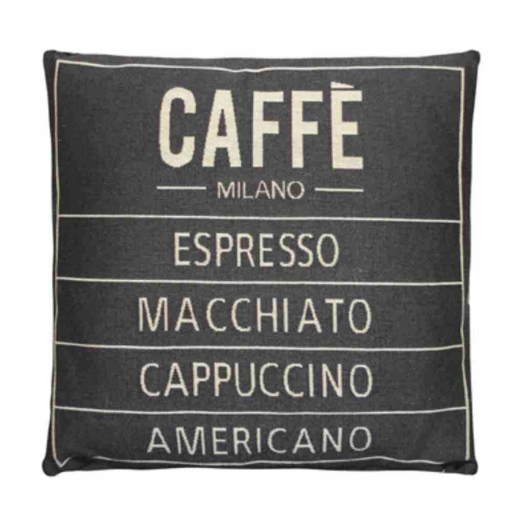 - Caffé - Kussen - Grey - Set van 2 - 45 x 45 cm