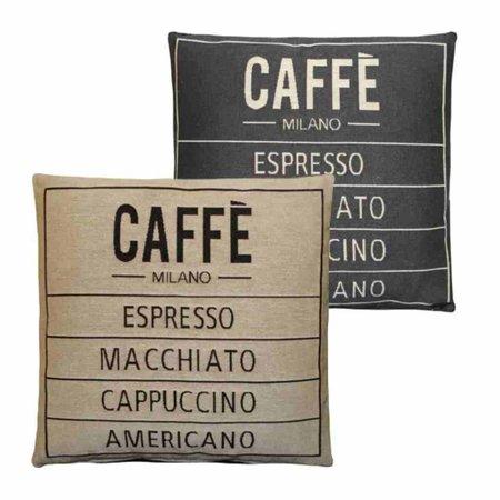 - Caffé - Kussen - Grey - Set van 2