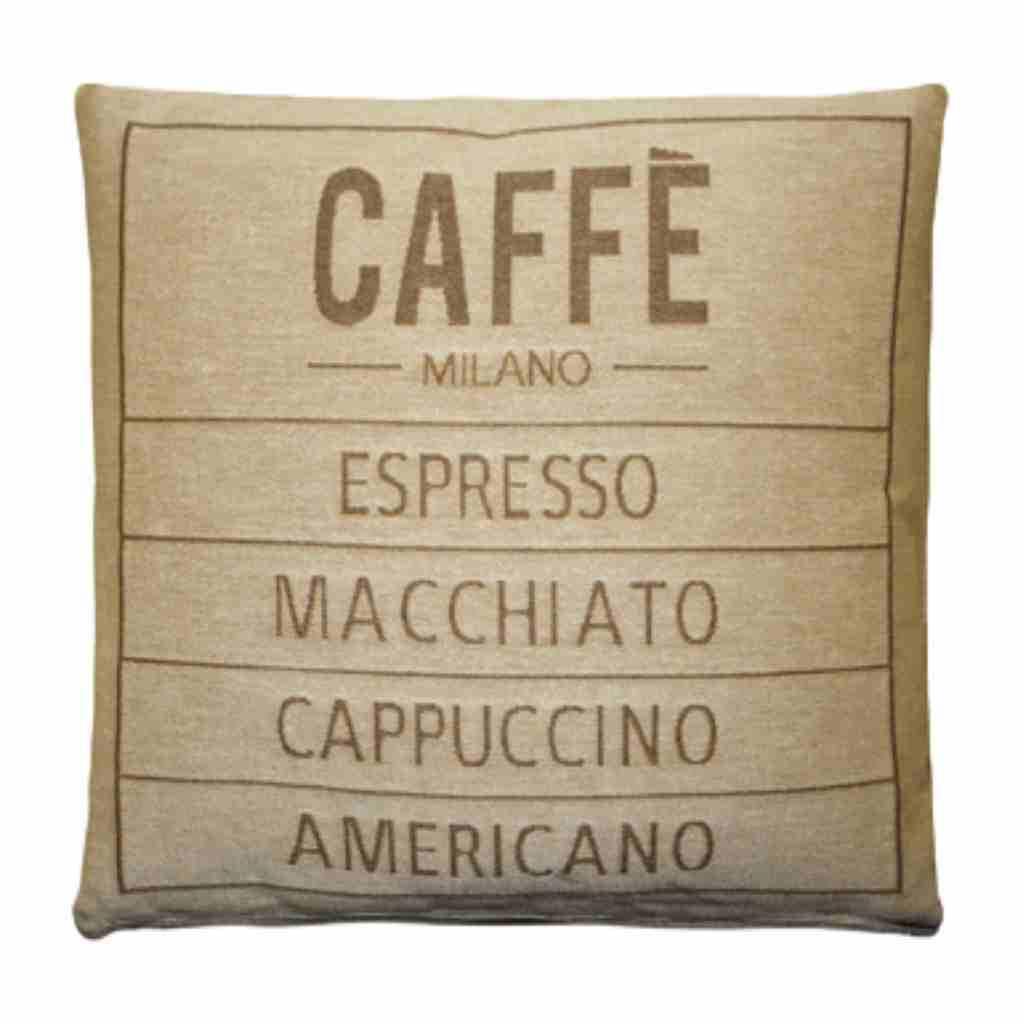 - Caffé - Kussen - Sand - Set van 2 - 45 x 45 cm