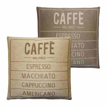 - Caffé - Kussen - Sand - Set van 2