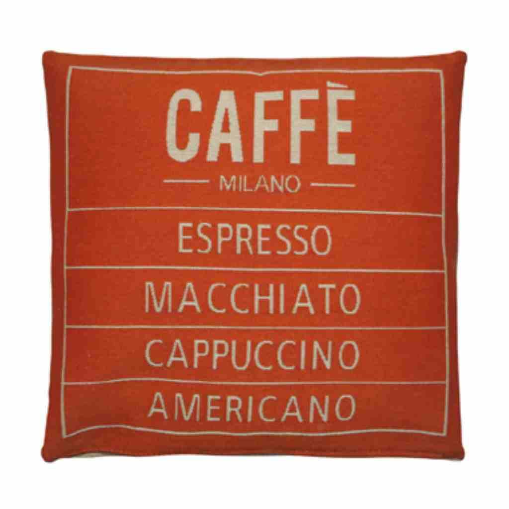 - Caffé - Kussen - Orange - Set van 2 - 45 x 45 cm