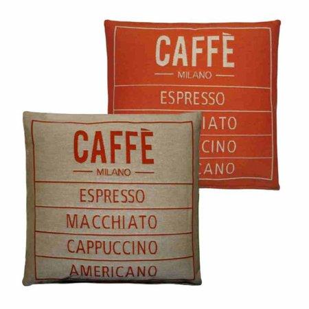 - Caffé - Kussen - Orange - Set van 2