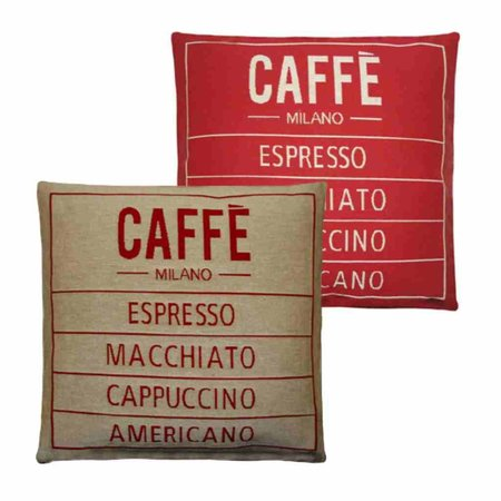 - Caffé - Kussen - Red - Set van 2