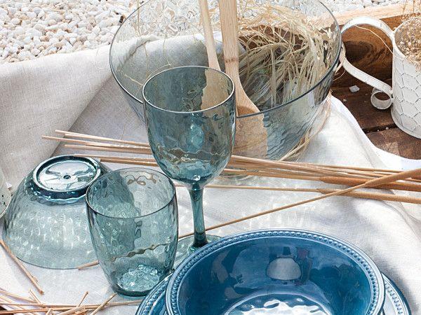 - Harmony - Waterglas Small - LAGOON - Hoogte 10,5 cm