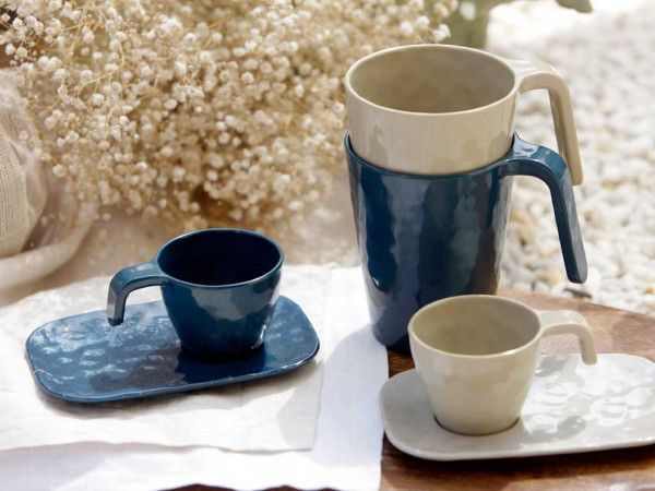 - Harmony - Espressokop met schotel - Silver
