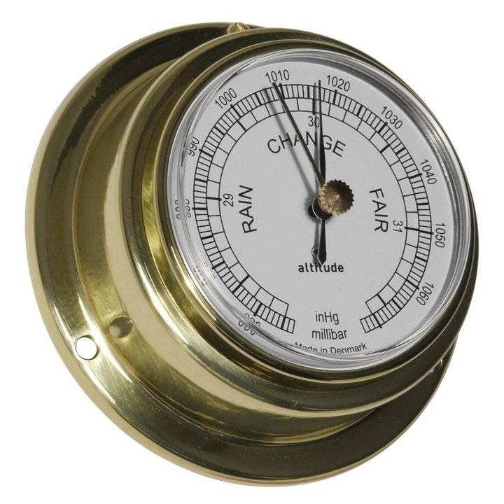 - Barometer - Messing - Engelse uitvoering - Ø 95 mm