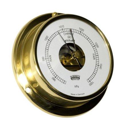 - Barometer - Messing - Engelse uitvoering - Ø 97 mm