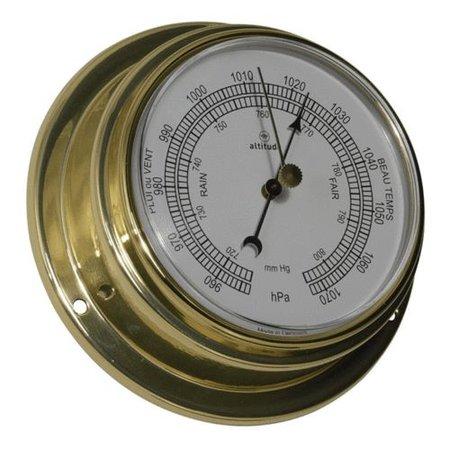 - Barometer - Messing - Engelse uitvoering - Ø 125 mm