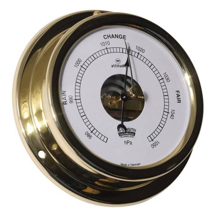 - Barometer - Messing - Engelse uitvoering - Ø 127 mm