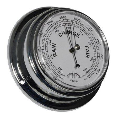 - Barometer - Chroom - Engelse uitvoering - Ø 125 mm