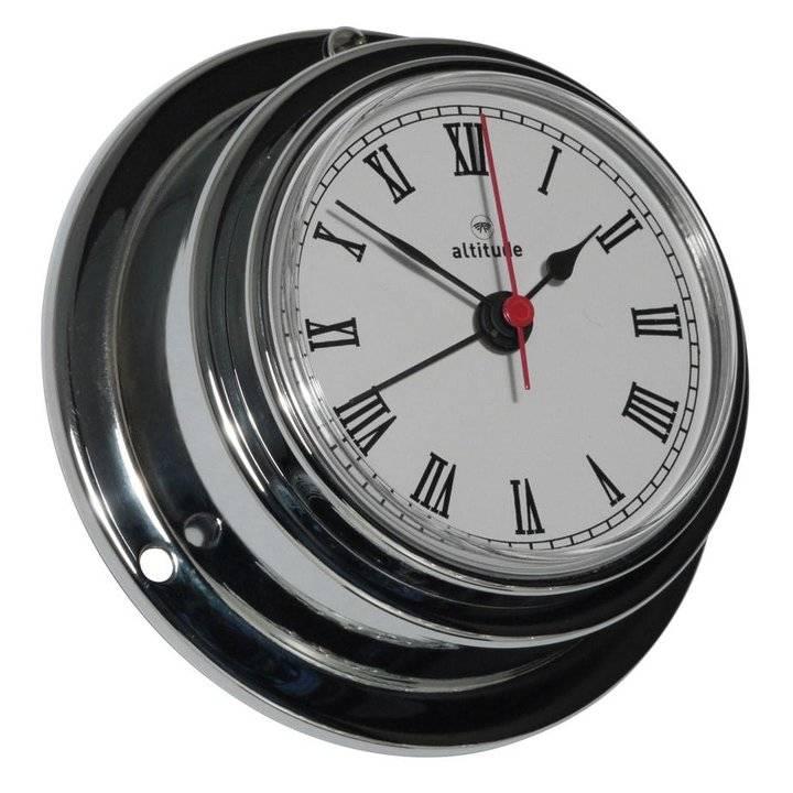 - Quartz Klok + Alarm - Chroom - Ø 95 mm