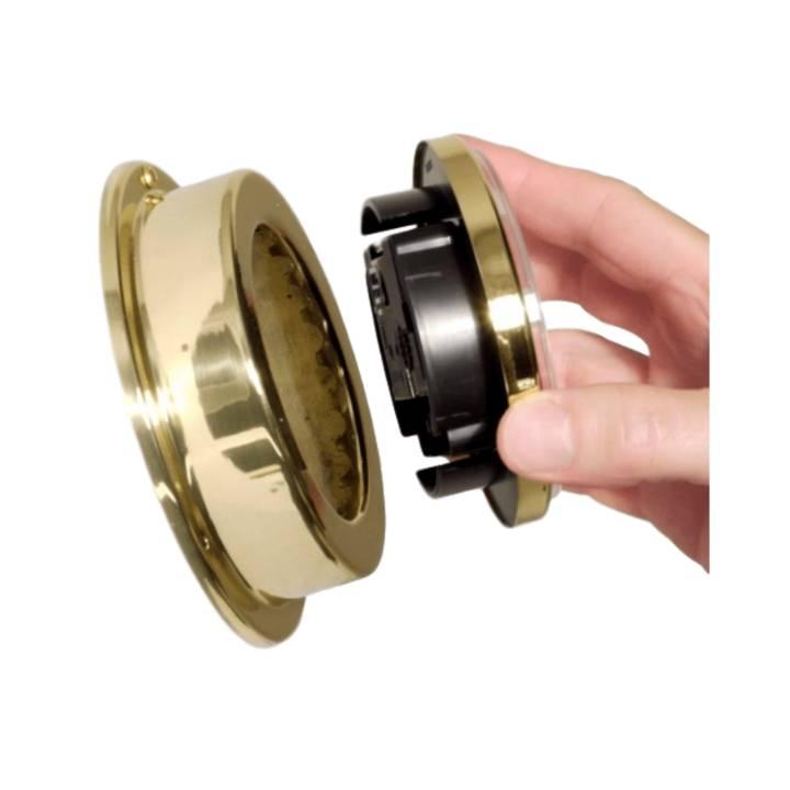 - Quartz Klok - Chroom - Ø 125 mm