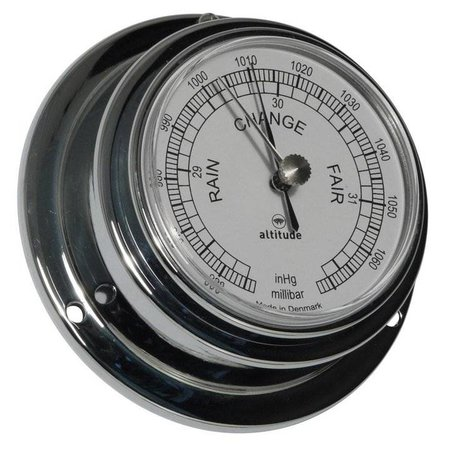 - Barometer - Chroom - Engelse uitvoering - Ø 95 mm