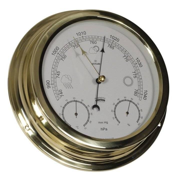 - Barometer/Thermometer/Hygrometer - Messing - Ø 224 mm