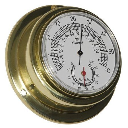 - Thermometer/Hygrometer - Messing - Ø 95 mm