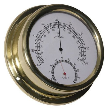 - Thermometer/Hygrometer - Messing - Ø 150 mm