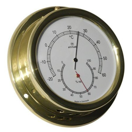 - Thermometer/Hygrometer - Messing - Ø 127 mm