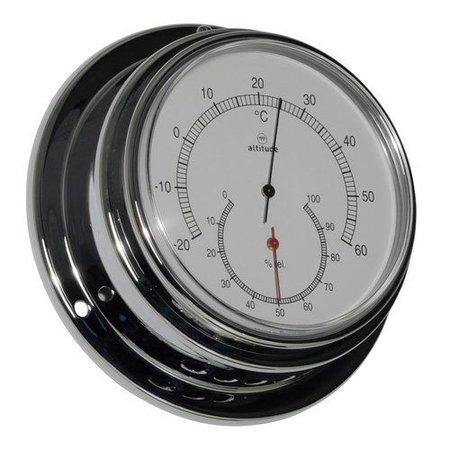 - Thermometer/Hygrometer - Chroom - Ø 125 mm