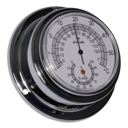 - Thermometer/Hygrometer - Chroom - Ø 95 mm