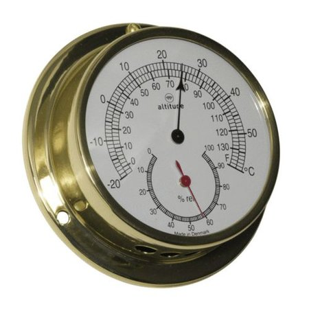 - Thermometer/Hygrometer - Messing - Ø 97 mm