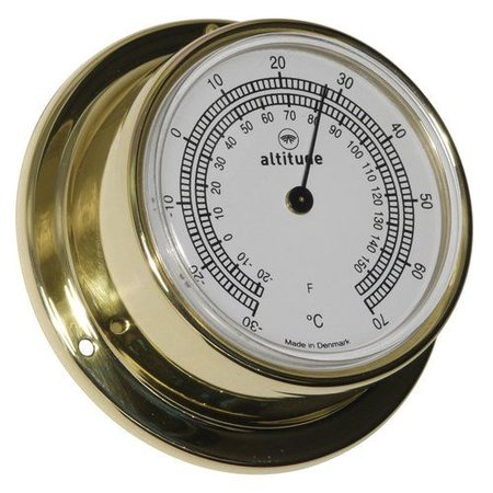 - Thermometer - Messing - Ø 71 mm