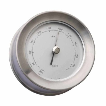 Zealand - Barometer - Mat RVS - Ø 110 mm