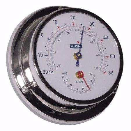 - Thermometer / Hygrometer - RVS - Ø 97 mm