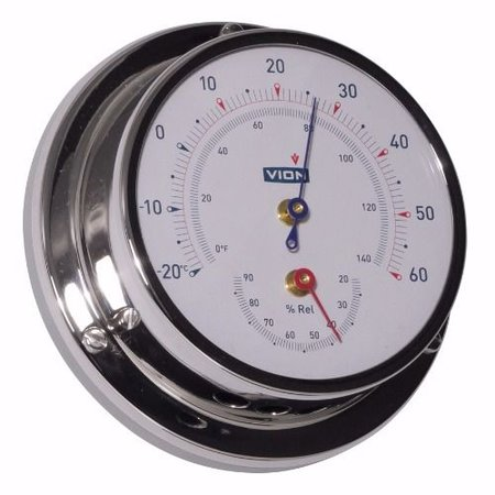 - Thermometer / Hygrometer - RVS - Ø 129 mm