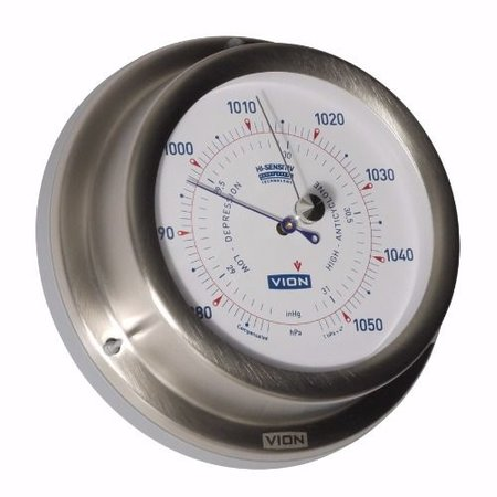 - Barometer - Mat RVS - Ø 129 mm