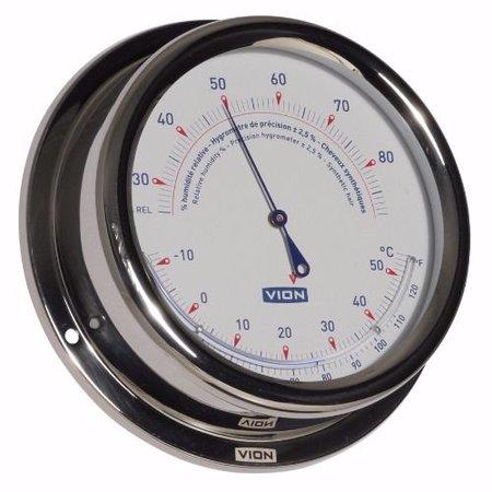 - Thermometer / Hygrometer - RVS - Ø 150 mm
