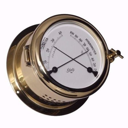 - Thermo- / Hygrometer - Messing - Ø 140 mm