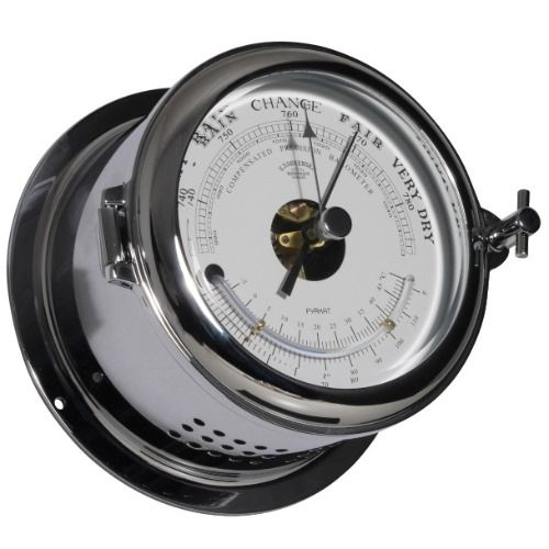 - Baro- / Thermometer - Chroom - Ø 140 mm