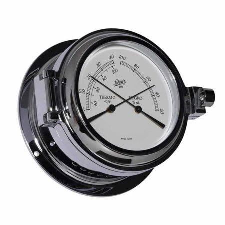 - Thermo- / Hygrometer - Chroom - Ø 140 mm