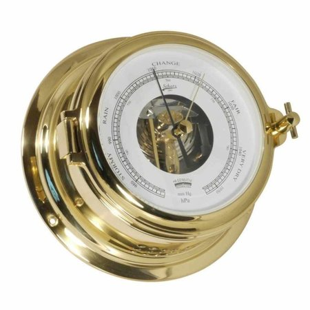 - Barometer - Messing - Open Wijzerplaat -  Ø 155 mm