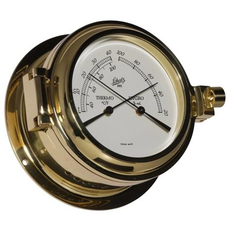 - Thermo- / Hygrometer - Messing - Ø 115 mm