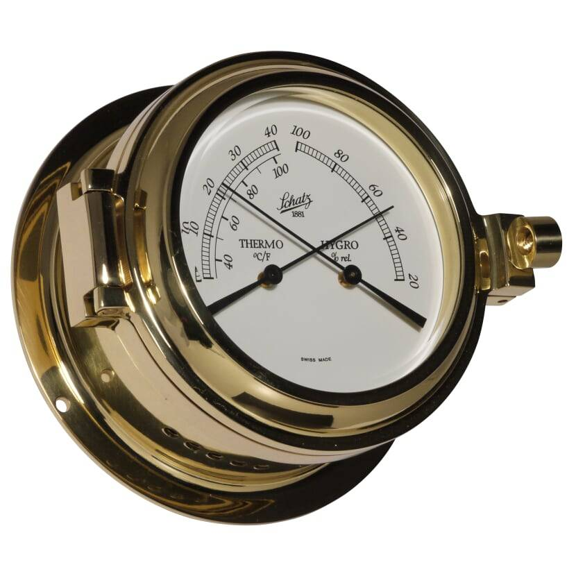 - Thermo-/Hygrometer - Messing - Ø 115 mm