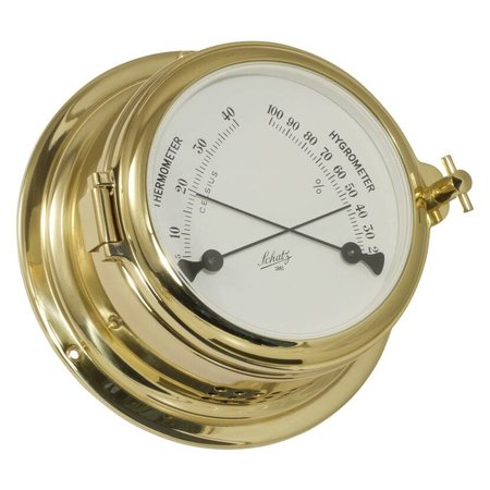 - Thermo- / Hygrometer - Messing - Ø 155 mm