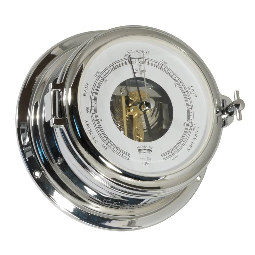 - Barometer - Chroom - Open Wijzerplaat -  Ø 155 mm