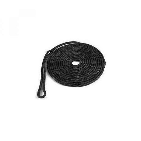 Fenderlijn - 3 strengs PPM met gespleten oog - 8 mm. - 1,5 mtr
