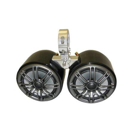 Kicker Double Barrel Black Speaker - Uni.