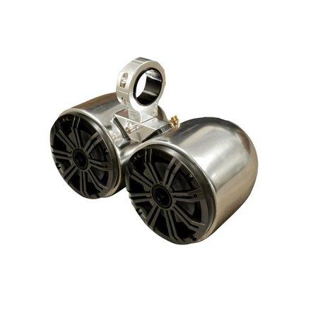 Kicker Double Barrel Polished and Anodized Speaker - Uni.