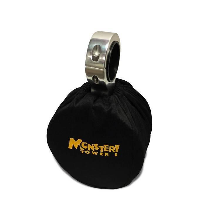 Monster Tower Kicker Single Barrel Black Speakers - Uni.