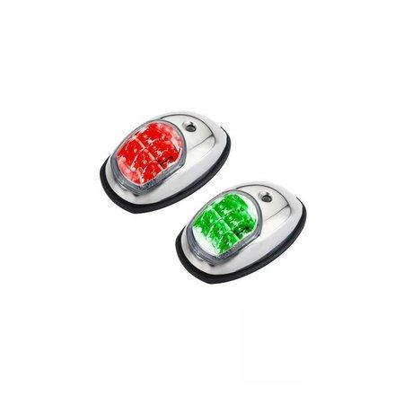LED navigatie zijlichten RVS, paar