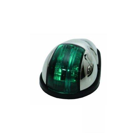 RVS Navigatielicht Groen - Zijmontage