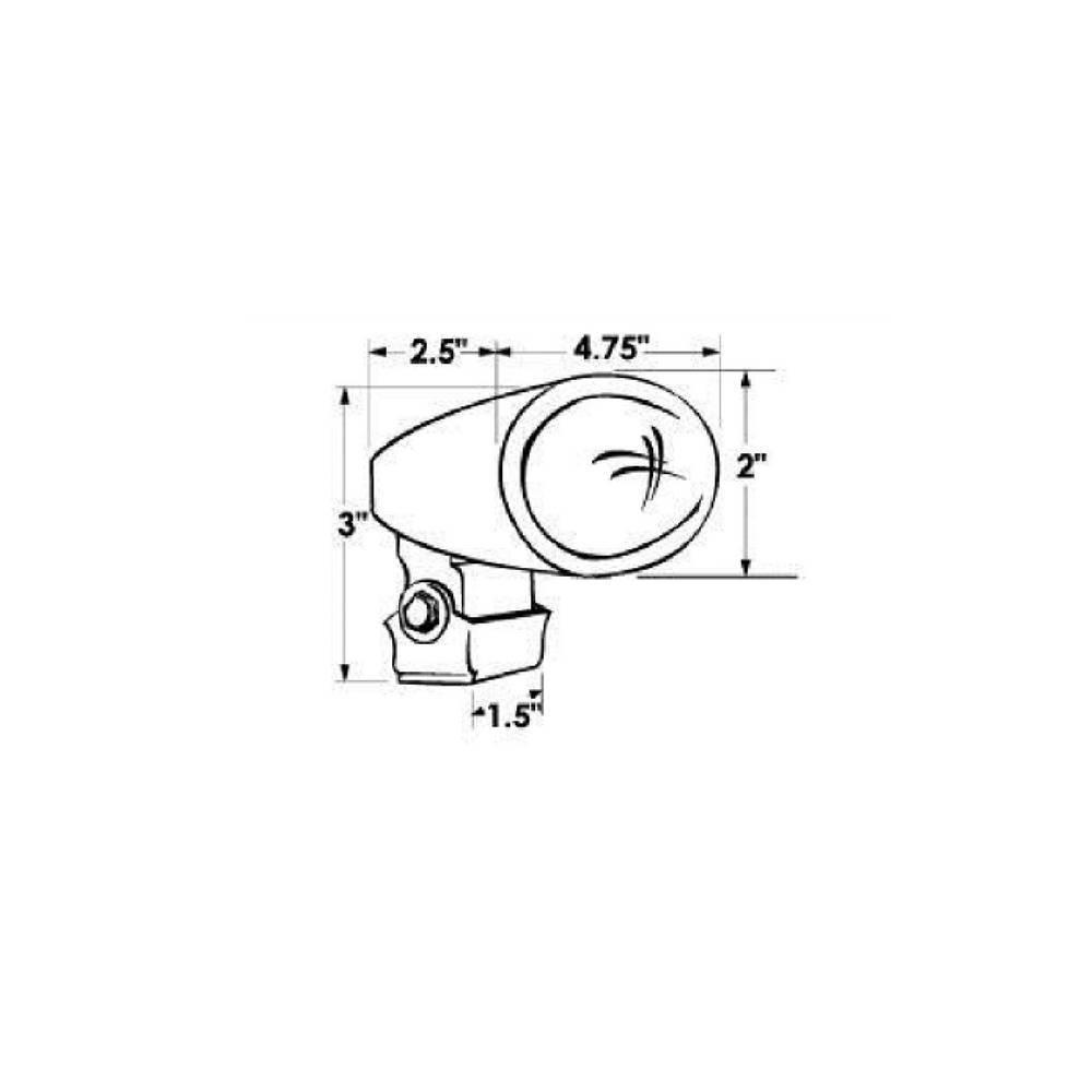 Halogeen Docking/Flood Licht - RVS