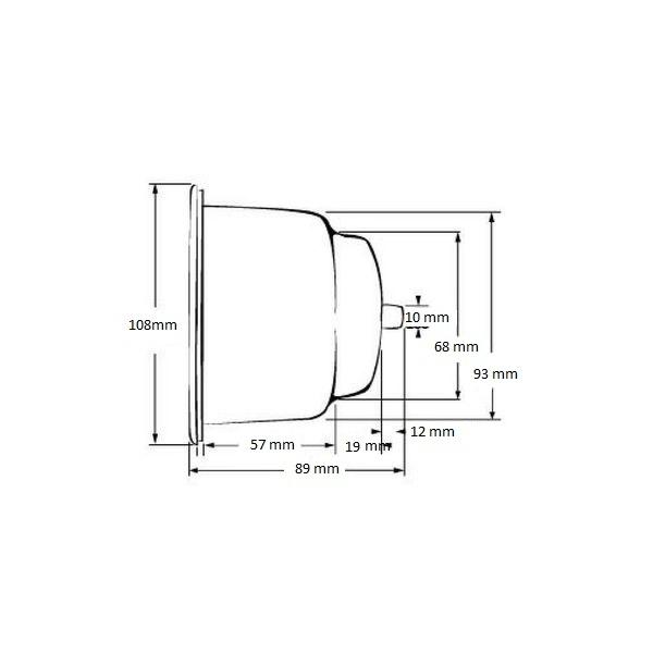 Bekerhouder RVS - Inbouw - Ø 108 mm.