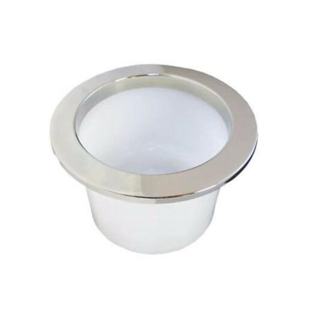 RVS Bekerhouder met LED Ring Blauw - Inbouw